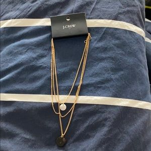 Multi layer gold J Crew necklace